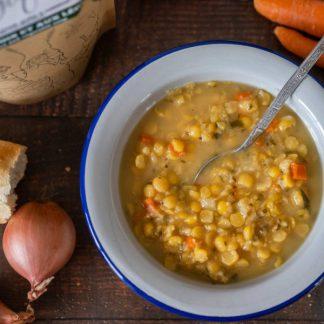 la pause magique mélange soupe aux pois et légumes