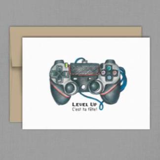 fêtes grenadine carte anniversaire jeu vidéo