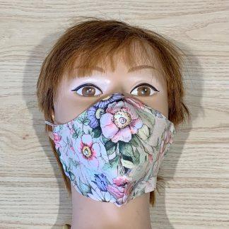 lune masque adulte fleurs