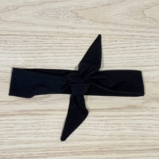 lune bandeau noeud noir