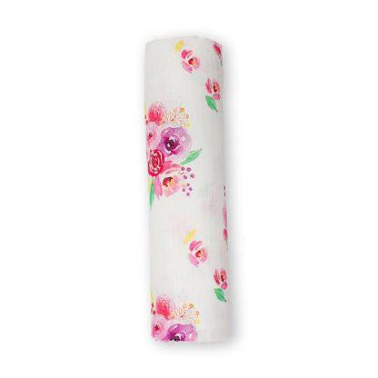 lulujo doudou mousseline coton fleurs