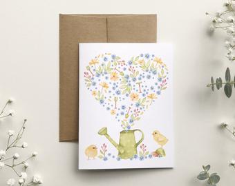 katrinn illustration carte lapin jardinage