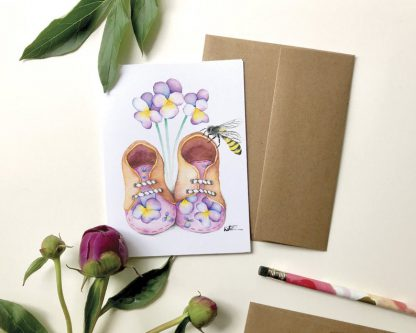 katrinn illustration carte chaussure bébé