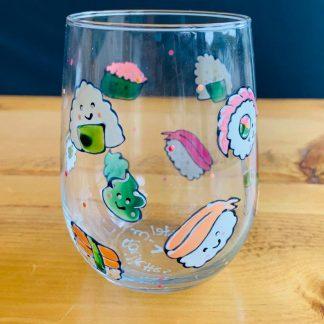 verre à vin sushi