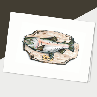 fêtes grenadine carte sans texte trophée de pêche