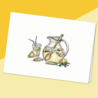 fêtes grenadine Carte sans texte, illustration limonade