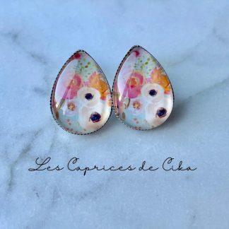 boucles d'oreilles fleurs caprices cika