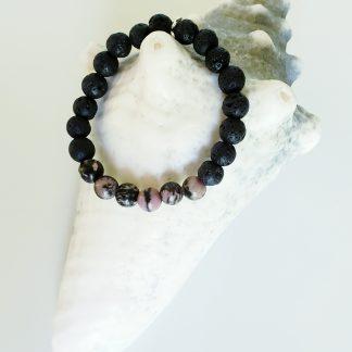 bracelet diffuseur enfant rose noir