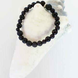 bracelet diffuseur tout noir