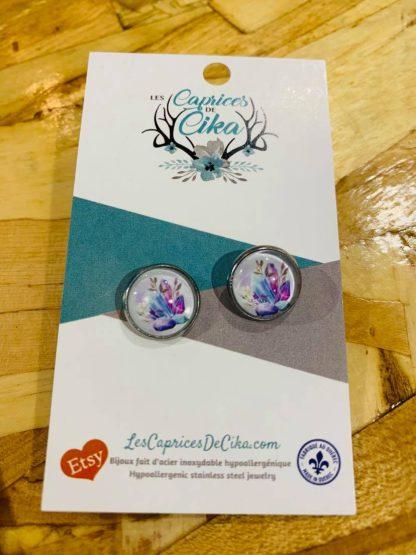boucles d'oreilles caprices de cika diamants pierres