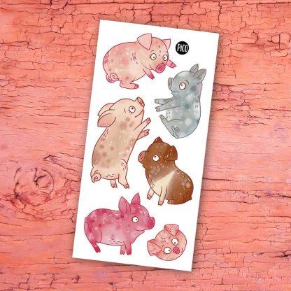 tatouage cochons de la ferme pico