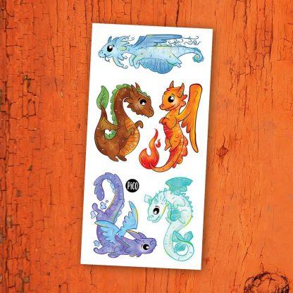 tatouages pico dragons éléments