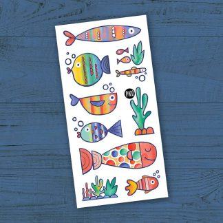 pico tatouages poissons multicolores