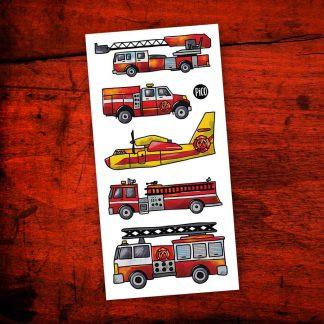 en sécurité avec les pompiers tatouage pico