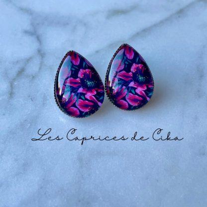 boucles d'oreille cika fleurs