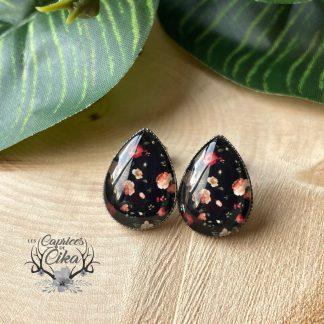 fleurs d'automne boucles d'oreilles