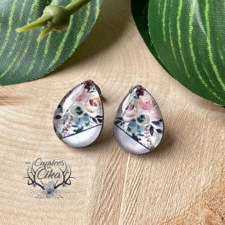 boucles d'oreilles cika fleurs