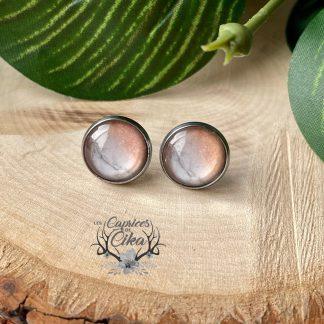 boucles d'oreilles cika marbre rose