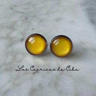 boucles d'oreilles jaunes cika