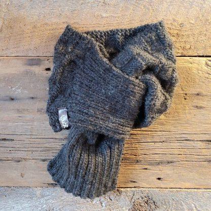 vnor foulard noeud coulant adulte contemporaine gris foncé