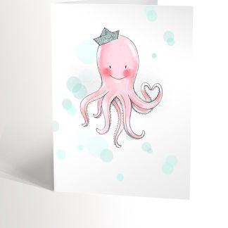 carte de souhaits belle pieuvre valerie boivin