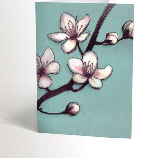 cartes de souhaits valérie boivin fleurs de pommier