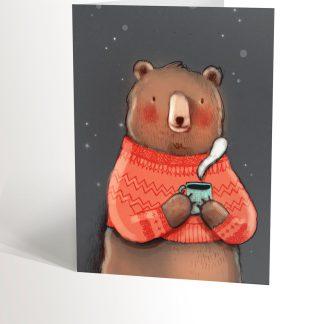 ours dans son chandail de laine